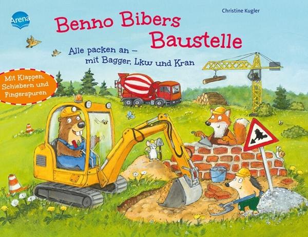 Bild von Kugler, Christine : Benno Bibers Baustelle. Alle packen an, mit Bagger, LKW und Kran
