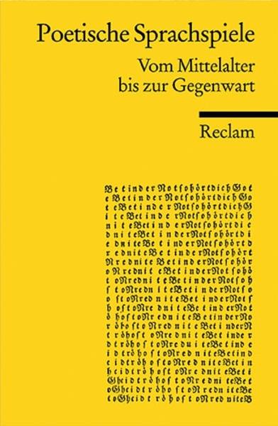 Bild von Dencker, Klaus P (Hrsg.): Poetische Sprachspiele