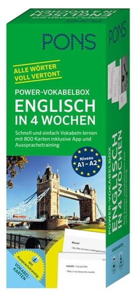 Bild von PONS Power-Vokabelbox Englisch in 4 Wochen