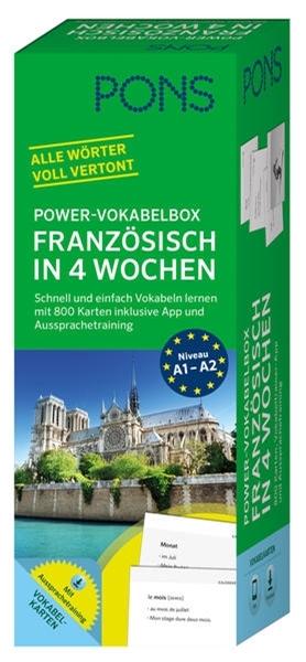 Bild von PONS Power-Vokabelbox Französisch in 4 Wochen